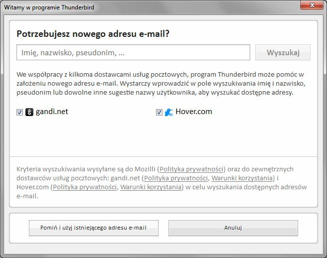 f57fb2a66f5474 Po kliknięciu Pomiń i użyj istniejącego adresu e-mail przechodzimy do 3  punktu Konfiguracji konta e-mail.